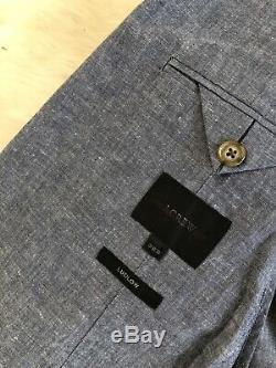 Jcrew Ludlow Slim-fit unstructured suit jacket in cotton-linen F0127 36S Blue