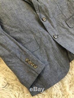 Jcrew Ludlow Slim-fit unstructured suit jacket in cotton-linen F0127 38S Blue