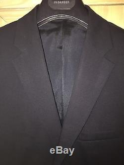Jil Sander Milly Milton Navy Stretch Wool Slim Fit Designer Suit 38 1,190 BNWT