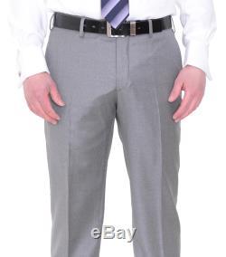 Jude Silver Slim Fit Heather Gray Loro Piana Fabric Super 130's Wool Suit