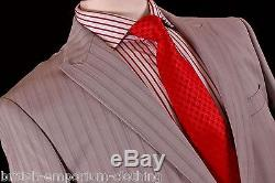 KENZO HOMME Grey Pinstripe SLIM FIT 100% WOOL Suit Uk40 BNWT