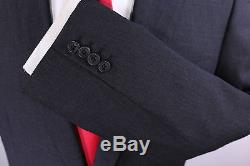 KILGOUR Savile Row Very Recent Solid Charcoal Gray Wool Slim Fit Suit 38R
