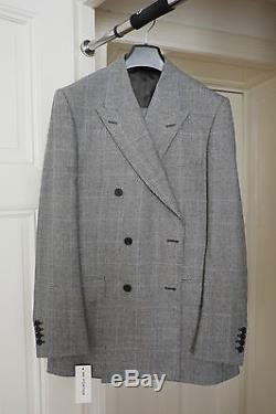 KINGSMAN X MR. PORTER Slim-Fit Double-Breasted Prince of Wales Suit Anzug UK 42L