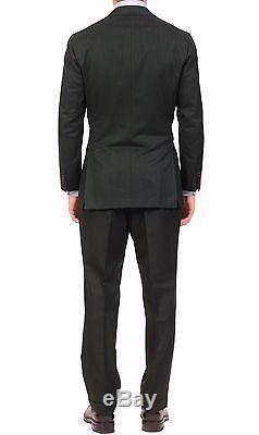KITON Napoli Green Herringbone Cashmere-Cotton Suit EU 50 NEW 38 40 R10 Slim Fit