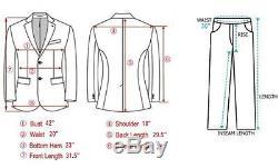 Kent Wang Charcoal Herringbone Custom/MTM Men's Suit 42L Slim Fit like RLBL