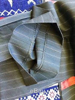 Kenzo Home Blue stripe Slim fit 100% Wool Men's Suit EU 52 RRP £570