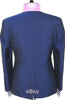 Luxury Mens Ted Baker London Petrol Blue Slim Fit 3 Piece Suit 40r W34 X L31