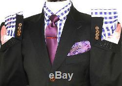 Luxury Mens Vivienne Westwood London Black Slim Fit 2 Piece Suit 38r W32 X L32