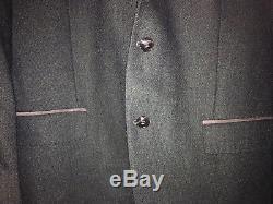 Linus Hamburg Black Slim Fit Havana Wool Business Suit Jacket S Genf Size 28