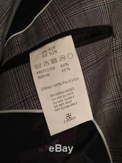 Luxurious Cavani Mens Suit 3 Piece Slim Fit Limited Edition Only 1 Left