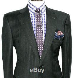 Luxury Gorgeous Mens Ermenegildo Zegna Custom-made Slim Fit Suit 46r W38 X L33