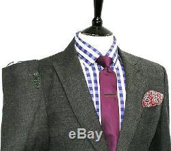 Luxury Gorgeous Mens Nicole Farhi Charcoal Grey Slim Fit Suit 38r W32 X L30