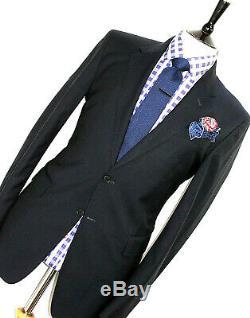 Luxury Gorgeous Mens Paul Smith London Slim Fit Solid Navy Suit 40r W34 X L32