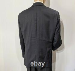 Luxury Hugo Boss Mens Suit Navy Slim Fit Mr Porter UK 46R W38 L31.5 RRP £595