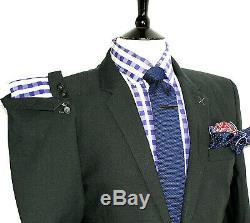 Luxury Mens Christian Lacroix Homme Charcoal Grey Slim Fit Suit 42r W36 X L32