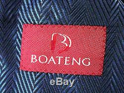 Luxury Mens Ozwald Boateng Savile Row Navy Pinstripe Slim Fit Suit 40r W34 X L29