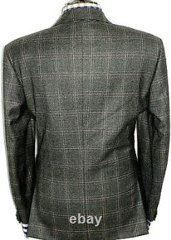 Luxury Mens Pal Zileri Italian Tailor-made Box Check Fit Suit 42r W36 X L32