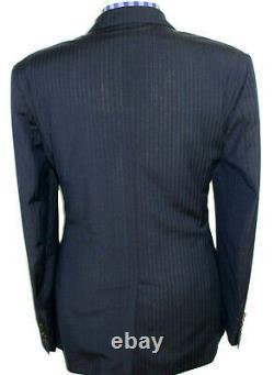 Luxury Mens Paul Smith London Navy Chalkstripe Slim Fit Suit 46r W38 X L33