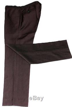 Luxury Mens Remus Uomo Burgundy Birdseye Slim Fit 3 Piece Suit 40r W34 X L31