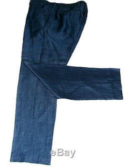 Luxury Mens Ted Baker London Herringbone London Navy Slim Fit Suit 42r W36 X L32