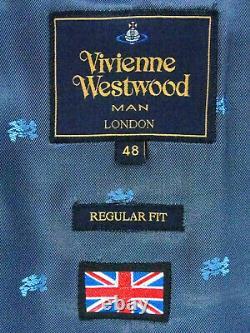 Luxury Mens Vivienne Westwood Burgundy/ Brown London Slim Fit Suit 38r W32 X L32