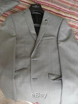 Mens Paul Costelloe Grey Tailored Suit Brand New Rrp £449 Slim Fit