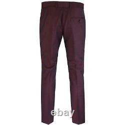 Madcap Mod Suit Mohair Tonic Burgundy Slim Fit 36R W30 L32