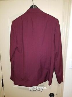 Maison Margiela 14 Slim Fit Suit Burgundy Size EU 54 US 44R $1995 Tom Ford