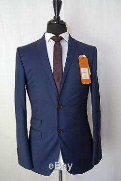 Men's Ben Sherman Blue Check Slim Fit Suit 36 38 40 42 44 VB16