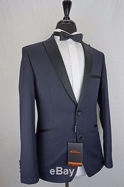 Men's Ben Sherman Navy Blue Slim Fit Tuxedo Dinner Suit 34 36 38 38 40 42 EZ284