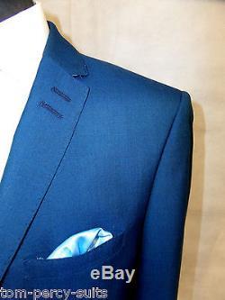 Men's Blue Alexandre Of England Slim Fit Suit 40R W34 L31 SS6369