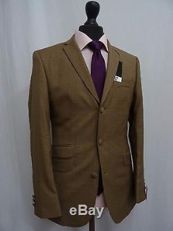 Men's Brown Scott By The Label Slim Fit Mod Suit 36R W30 L31 SS8152