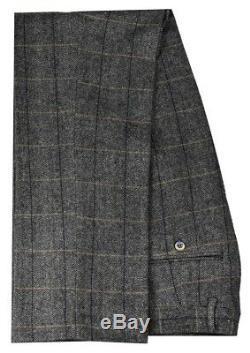Men's Grey 3 Piece Check Tweed Suit Peaky Blinders in Short & Long Fit