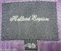 Men's Holland Esquire 3 Piece Powc Designer Slim Fit Suit Uk 40 W34 Xl32
