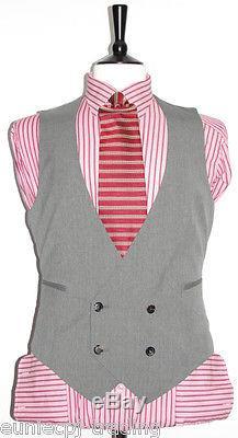 Men's Hugo Boss 3-pce Slim-fit Wedding/party/work Wool Designer Suit 40r W35 L33