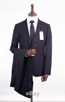 Men's Navy Blue Slim Fit Suit Ben Sherman Camden Wool 38R W32 L31