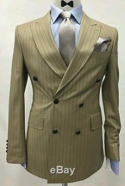 Men's double breasted slim fit suits for special occasions