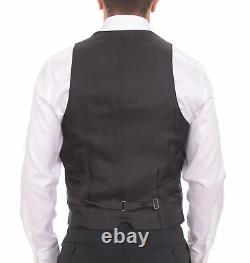 Mens 38R Armani Collezioni M-line Slim Fit 38r 48 Black Striped Three Piece W