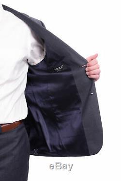 Mens 39R Ralph Lauren Slim Fit Navy Blue Pindot Two Button Wool Suit