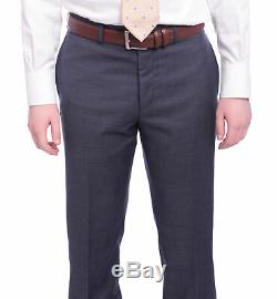 Mens 42R Ralph Lauren Slim Fit Navy Blue Pindot Two Button Wool Suit