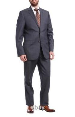 Mens 46R Ralph Lauren Slim Fit Navy Blue Pindot Two Button Wool Suit