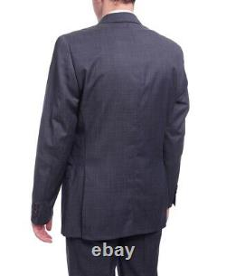 Mens 50R Ralph Lauren Slim Fit Navy Blue Pindot Two Button Wool Suit