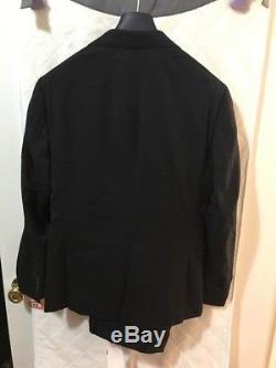 Mens Bonobos 36S Slim Fit Black Suit 30W Pants NWOT! $600 Retail