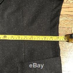 Mens Bonobos Tollegno 1900 Wool Silk Slim Fit Charcoal 2 Pcs Suit Size 44R