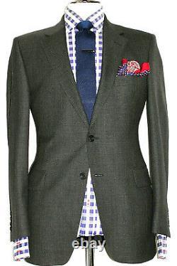 Mens Gieves & Hawkes Savile Row Charcoal Birdseye Slim Fit Suit 40s W34 X L30