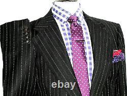 Mens Gucci Tom Ford Italian Tailored Chalkstripe Slim Fit Suit 44r W38 X L32.5
