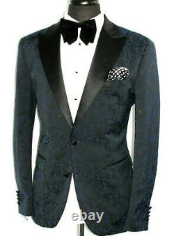 Mens Gucci Tom Ford Paisley Floral Tuxedo Dinner Slim Fit Suit 40r W34 X L32