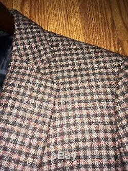 Mens Hardy Amies Suit 38 Slim Fit Like Suitsupply Dual Vent Patch Pockets Wool