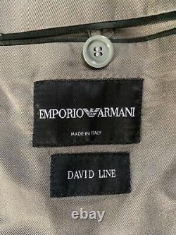 Mens LUXURY EMPORIO ARMANI DAVID LINE SLIM FIT SUIT In LIGHT GREY 42R EX-CON