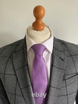 Mens LUXURY PAUL SMITH THE BYARD SLIM FIT WOOL SUIT In GREY CHECK 38R EX-CON